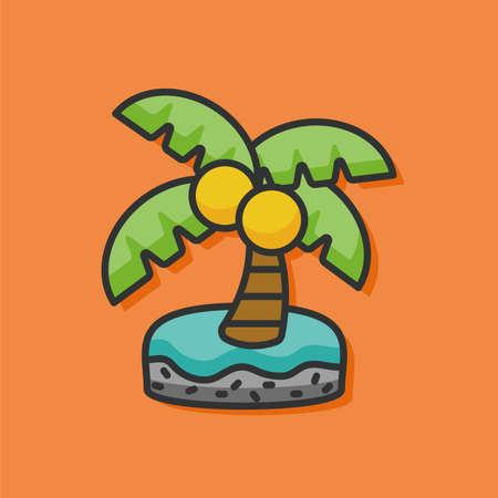 resort: resort island vector icon