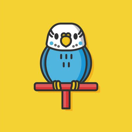 captured: pet bird vector icon
