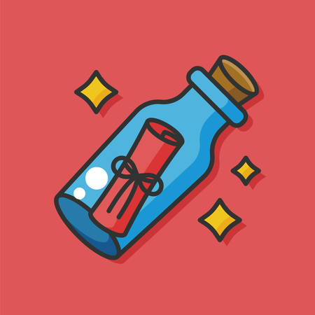 inkstand: writing paper vector icon Illustration