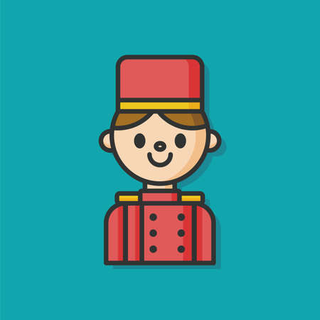 bellman: hotel bellman vector icon