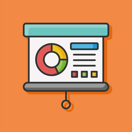 office presentation: office presentation chart vector icon Illustration