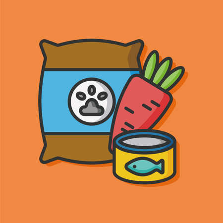 pet food vector icon