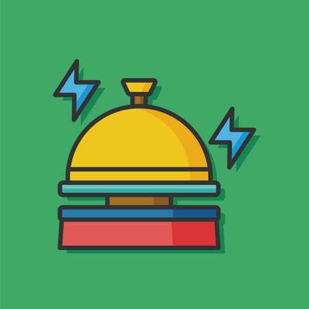 hotel bell: hotel bell vector icon Illustration