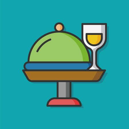 food tray: food tray vector icon Illustration