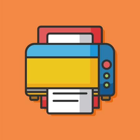 printer machine vector icon