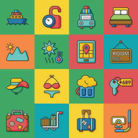 zestaw ikon wektorowych podróży Zdjęcie Seryjne - 56254932