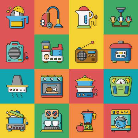 appliances: icon set appliances vector