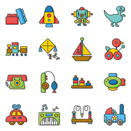 icon set toy vector Ilustracja