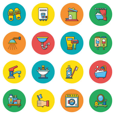icon set sanitary vector Vektorové ilustrace