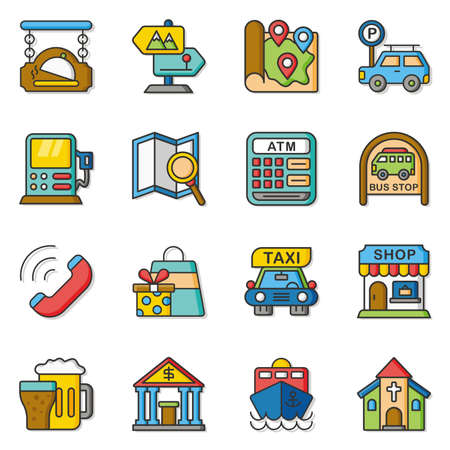 brand position: icon set location vector
