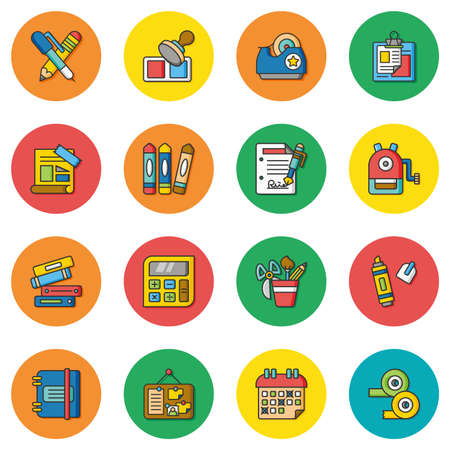 tape marker: icon set stationery vector