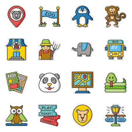 geolocation: icon set zoo vector