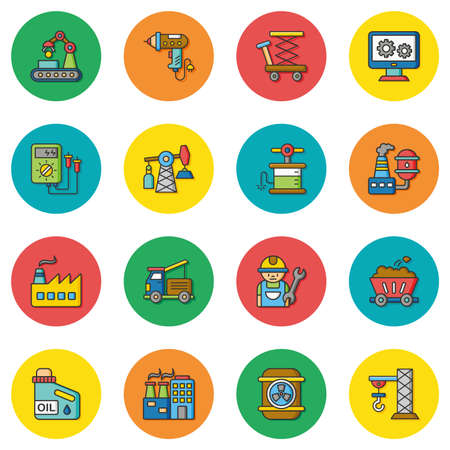 icon set: icon set industry vector Illustration