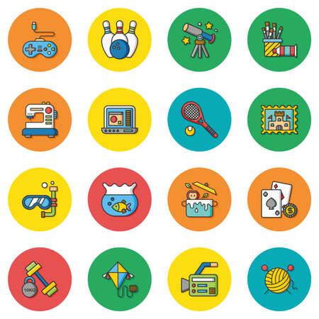 conjunto de iconos del vector manía Ilustración de vector