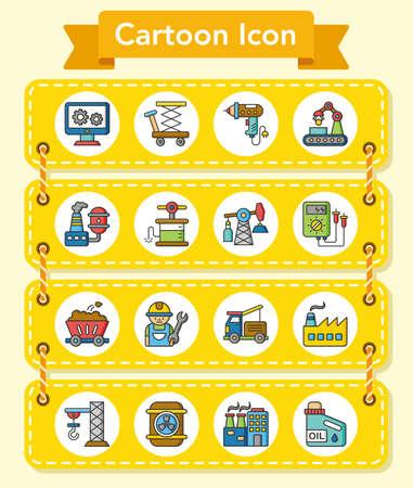 industry: icon set industry vector Illustration