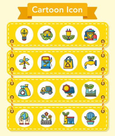 decomposition: icon set ecology