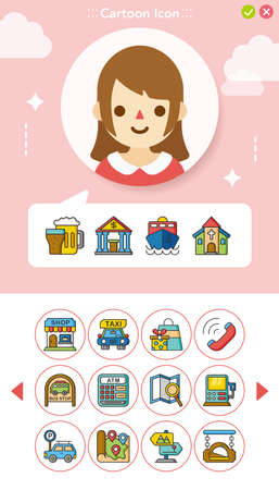 icon set location vector