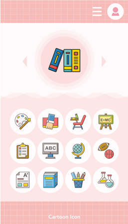 student book: icon set school vector Illustration