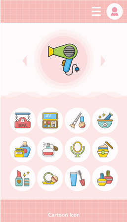 beuty: icon set beuty vector