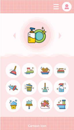 icon set clean vector