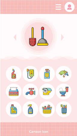 sanitary: icon set sanitary vector