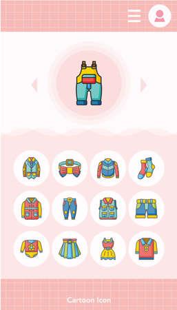 wearing: icon set wearing vector