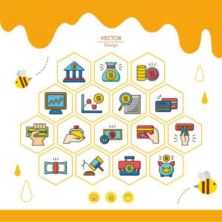 icon set financial vector