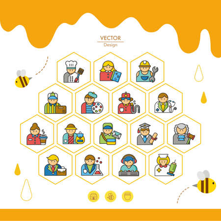 occupation: icon set occupation vector