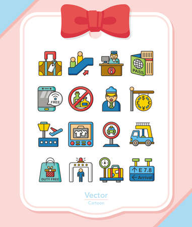 set going: icon set airport vector