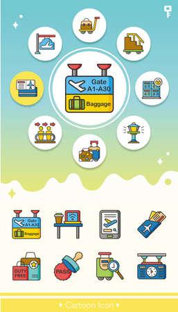 flight crew: icon set airport vector