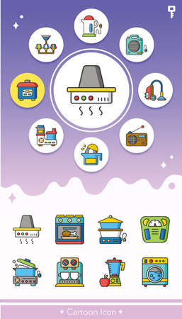 icon set appliances vector