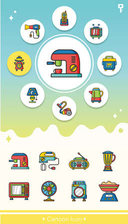 appliances: icon set appliances vector