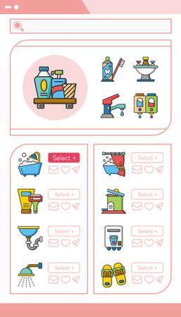 sanitary engineering: icon set sanitary vector