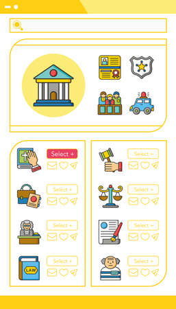 oath: icon set law vector Illustration