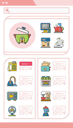 appliance: icon set appliance vector