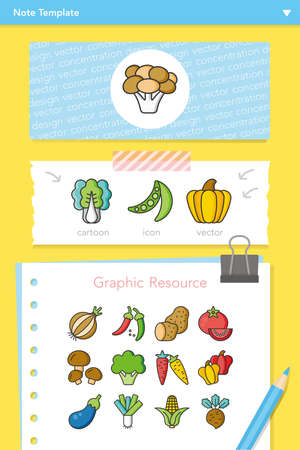 leek: icon set vegetable vector