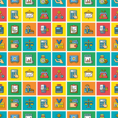 icon set financial vector 版權商用圖片 - 65326735