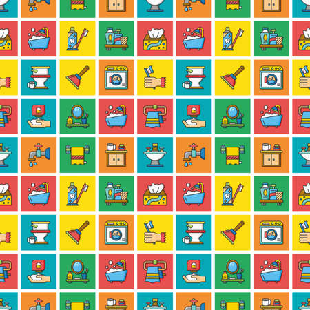 sanitary: icon set sanitary Illustration