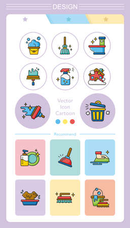 anti bacterial soap: icon set clean Illustration