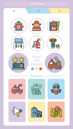 disaster preparedness: icon set emergency