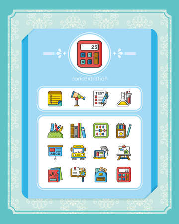 icon set school vector 向量圖像