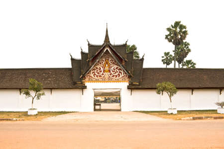 ing: The oldest temple in Laos  phra that ing hang, Savannakhet Laos Stock Photo