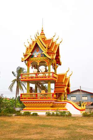ing: Building for a time in the drum, Wat phra that ing hang,  Savannakhet Laos