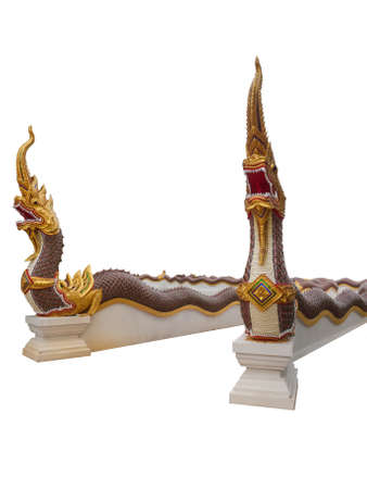 naga china: Naga statue protecting the entrance to Thai temple