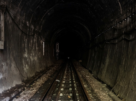 sleepers: The lighting of the locomotives in the tunnel.