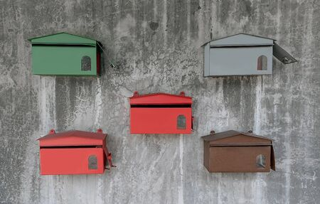 5 Card Mail box on the wall