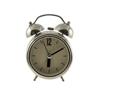 retro alarm clock on a white background