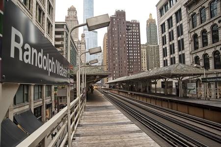 el: The RandolphWabash stop on the Chicago el. Editorial
