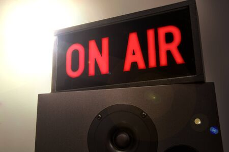 On Air Sign with Flare Stock Photo