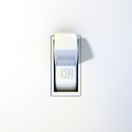 Close up of a wall light switch in the on position stock photo close up of a wall light switch in the on position stock photo 18798116 aloadofball Choice Image